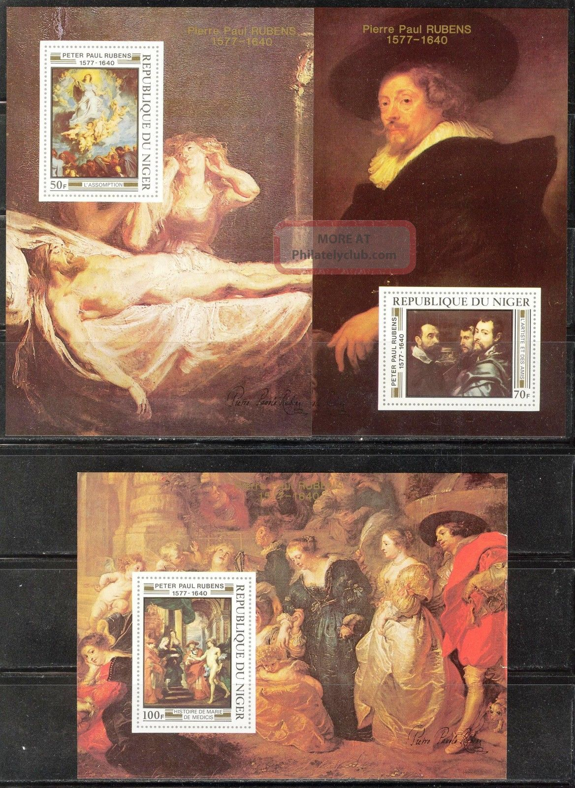 Niger 1978 Art Paintings P.  P.  Rubens 5 S/s Imperf.  2 Scans Topical Stamps photo