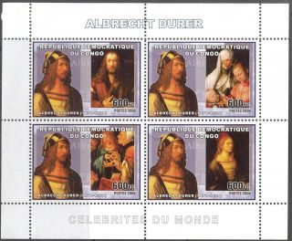 Congo 2006 Art Paintings Albrecht Durer Sheet Of 4 photo