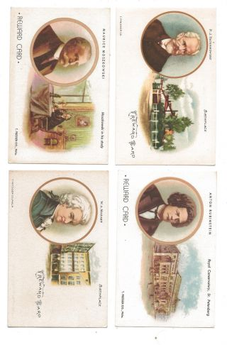 1906 - 1912,  11 Different Classical Composer Reward Cards, photo