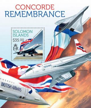 Solomon Islands 2013 Remembering The Concorde Stamp S/s 19m - 296 photo