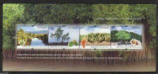 India 2002 Climate Change Conference Coastal Mangroves 4v S/s 62345 photo