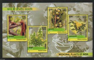 India 2003 Medicinal Plants Herbs 4v S/s 62598 photo
