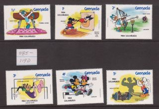Grenada - Sc 1185 - 90 - Disney Celebrates ' 84 Summer Olympics In Los Angeles photo