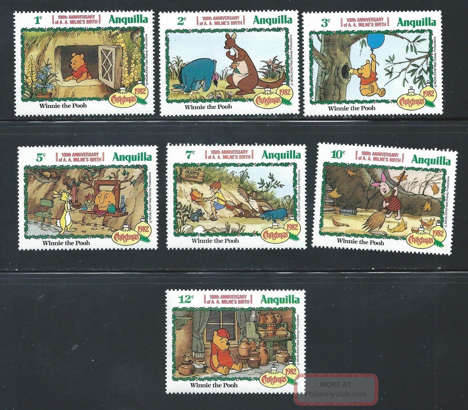 Anguilla - Sc 511 - 17 Disney Winnie The Pooh - Topical Stamps photo