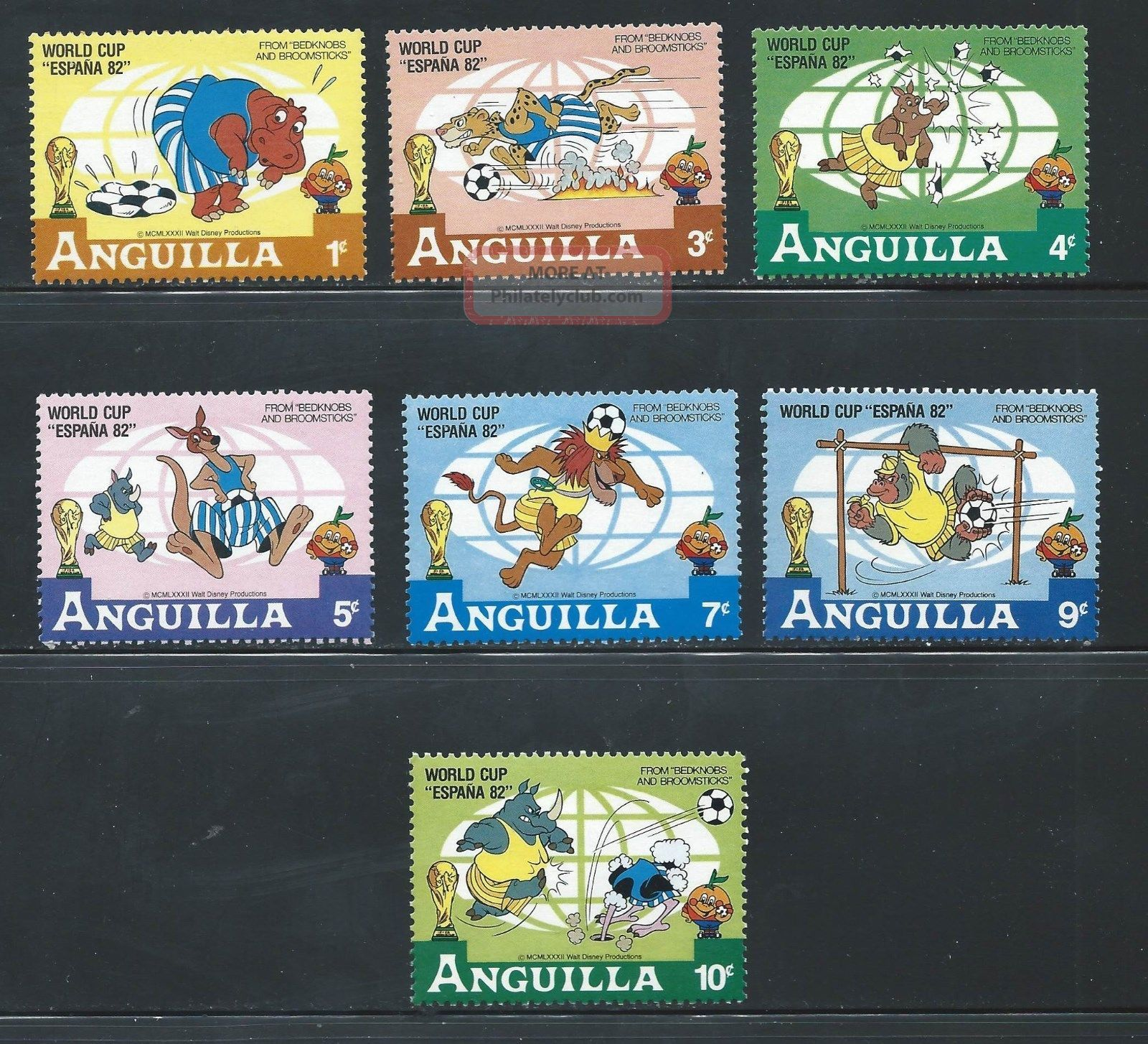 Anguilla - Sc 492 - 98 - Disney - Soccer World Cup Topical Stamps photo