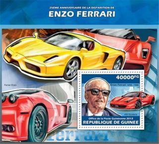 Guinea - 2013 Ferrari 25th Anniversary - Stamp Souvenir Sheet - 7b - 2294 photo