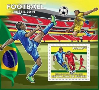 Guinea - 2013 Football Brazil 2014 - Stamp Souvenir Sheet - 7b - 2300 photo