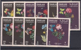 Sharjah - 1967 Butterflies Mlh - Vf 364 - 74 photo