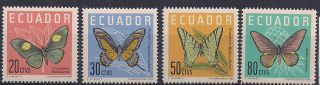 Ecuador - 1961 Butterflies Mlh - Vf 1070 - 3 photo