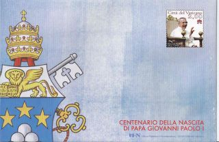 2013 Vatican Philatelic Envelope - Centenary Of The Birth Of Pope John Paul I photo