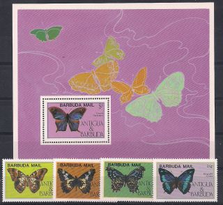 Barbuda - 1985 Butterflies - Vf 806 - 9+ms 94 photo