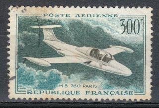 France 1959 Postal Sc C34 Plane Morane Saulnier 76