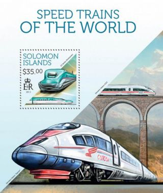 Solomon Islands - 2013 High Speed Trains Of The World S/s 19m - 294 photo