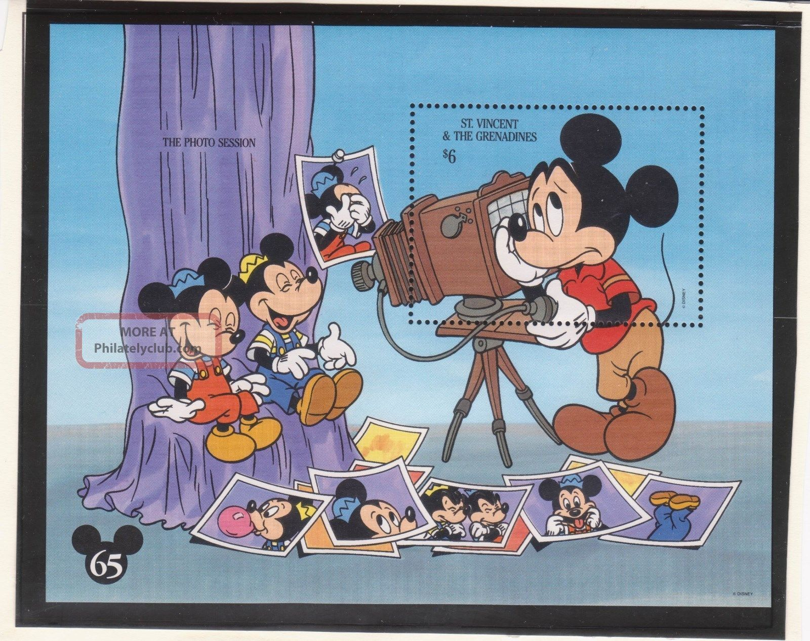 St.  Vincent Sc 1995 - Disney - Mickey ' S Portrait Gallery S/s - Topical Stamps photo