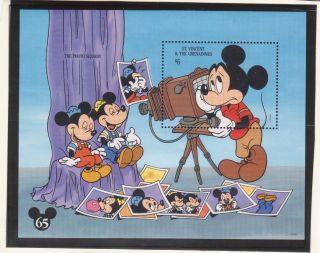 St.  Vincent Sc 1995 - Disney - Mickey ' S Portrait Gallery S/s - photo