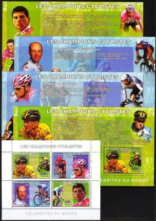 Congo 2006 Cycling Champions Armstrong Basso Ullrich Leipheimer 5 S/s photo