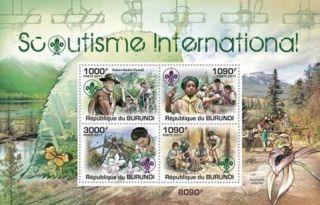 Burundi - Scouts Of Kenya - 4 Stamp Sheet - 2j - 177 photo