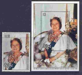 Niue 291 - 2 Royalty,  Queen Mother photo