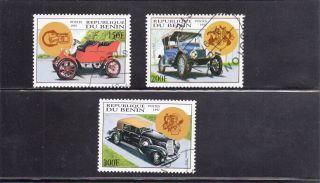 Benin 1997 Antique Automobiles Cancelled photo