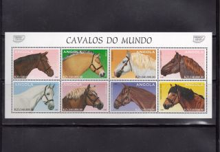Angola 1997 Horses Scott 994a - H Miniature Sheet photo