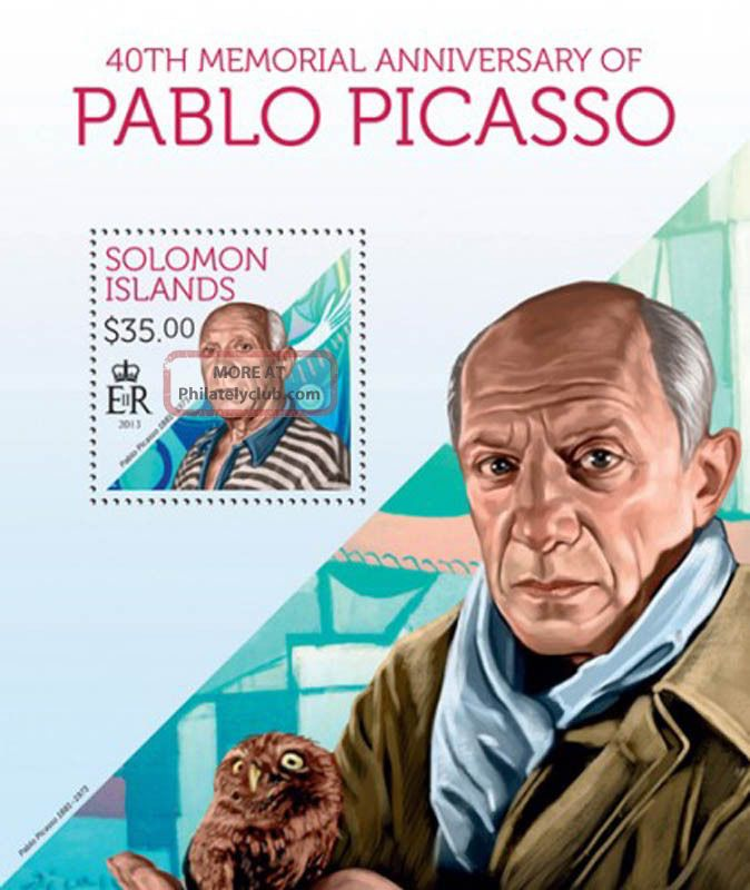 Solomon Islands 2013 Artist Pablo Picasso Stamp Souvenir Sheet 19m - 300 Topical Stamps photo