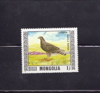 Mongolia 1976 Protected Birds - Tawny Eagle photo
