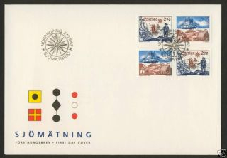 Sweden 2033a Two Pairs On Fdc - Ship,  Map photo