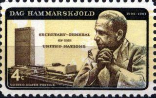Usa 1962 4c Dag Hammarskjold Un Secretary - General - Nobel Peace Prize Winner 1203 photo