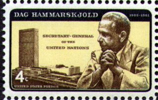 Usa 1962 4c Dag Hammarskjold Un Secretary - General Avarded Nobel Peace Prize 1203 photo