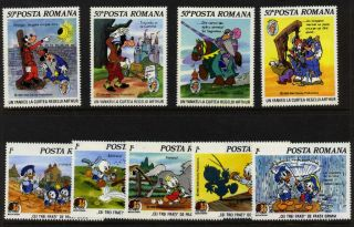 Romania 3331 - 9 Mh Brothers Grimm,  Mark Twain,  Horses photo