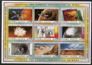 Sierra Leone: Mars Exploration Mini - Sheet (1168) photo