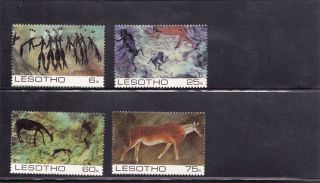 Lesotho 1983 Rock Paintings Scott 398 - 401mint Never Hinged photo