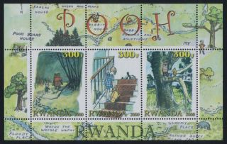 Rwanda Winnie The Pooh Souvenir Sheet photo