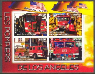 2004 Firetrucks Firemans Of Los Angeles S/s Imperf. photo