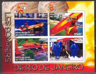 2004 Firetrucks Firemans Of Rio De Janeiro S/s Imperf. photo