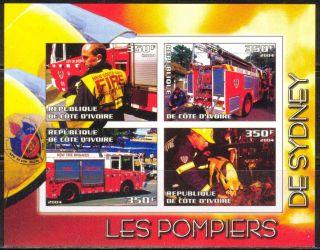 2004 Firetrucks Firemans Of Sydney S/s Imperf. photo