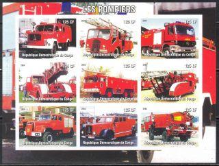 2004 Firetrucks Engines I Sheet Of 9 Imperf. photo