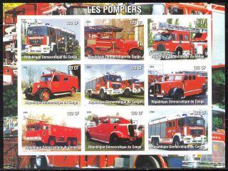 2004 Firetrucks Engines Ii Sheet Of 9 Imperf. photo
