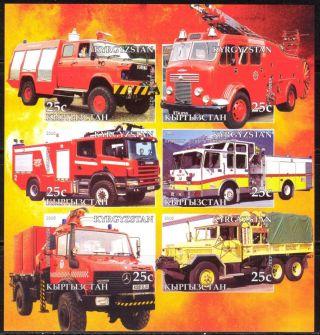 2005 Firetrucks Engines I Sheet Of 6 Imperf. photo
