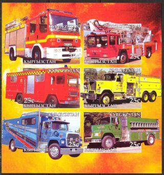 2005 Firetrucks Engines Ii Sheet Of 6 Imperf. photo