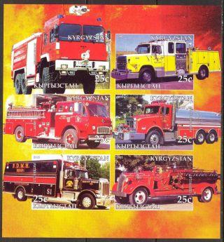 2005 Firetrucks Engines Iii Sheet Of 6 Imperf. photo