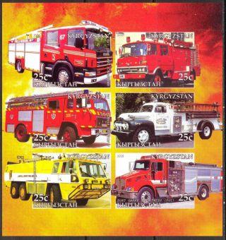 2005 Firetrucks Engines Iv Sheet Of 6 Imperf. photo