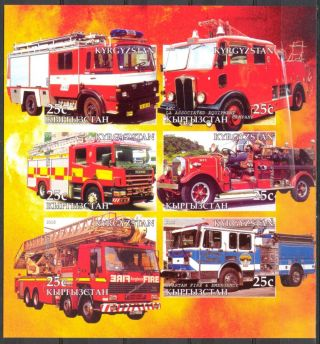 2005 Firetrucks Engines V Sheet Of 6 Imperf. photo