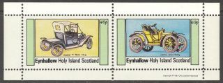 Eynhallow (br.  Local) 1981 Old Cars Sheet Of 2 Ne003 photo