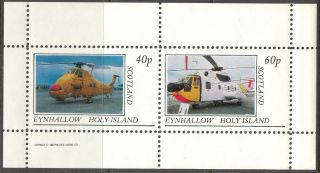 Eynhallow (br.  Local) 1982 Aviation Helicopters Sheet Of 2 Ne008 photo