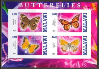 2013 Butterflies I Imperf.  Sheet Of 4 5m I 001 photo