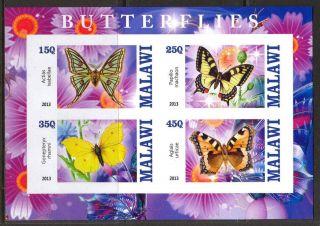 2013 Butterflies Ii Imperf.  Sheet Of 4 5m I 002 photo