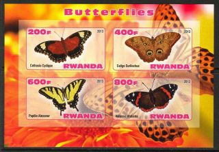 2013 Butterflies I Imperf.  Sheet Of 4 5r I 001 photo