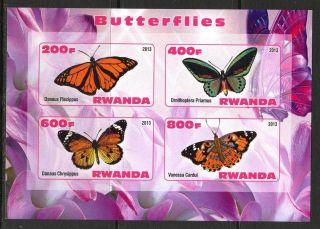 2013 Butterflies Ii Imperf.  Sheet Of 4 5r I 002 photo