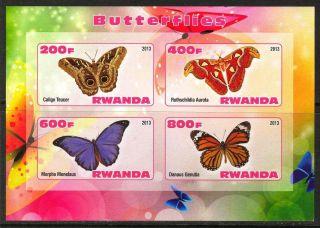 2013 Butterflies Iii Imperf.  Sheet Of 4 5r I 003 photo